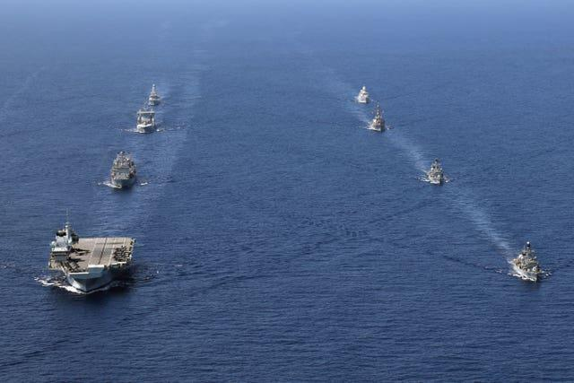 The Royal Navy carrier strike group
