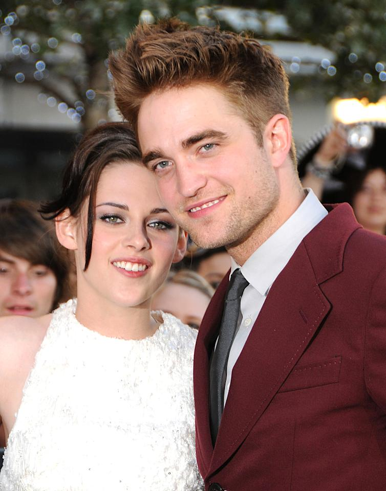 """LOS ANGELES - JUNE 24: Kristen Stewart and Robert Pattinson arrive at the 2010 Los Angeles Film Festival """"Twilight Saga: Eclipse"""" premiere held at Nokia Theatre L.A. Live on June 24, 2010 in Los Angeles, California. (Photo by Gregg DeGuire/PictureGroup)"""