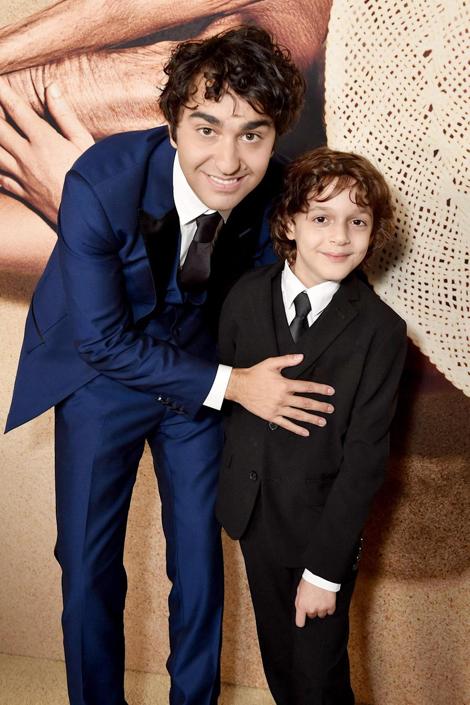 <p>Alex Wolff and Nolan River attend the <em>Old</em> world premiere, presented by Universal Pictures, at Jazz at Lincoln Center on July 19 in N.Y.C.</p>