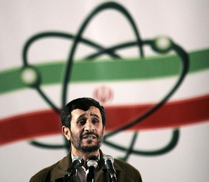 FILE- In this Monday, April, 9, 2007 file photo, Iranian President Mahmoud Ahmadinejad, speaks at a ceremony in Iran's nuclear enrichment facility in Natanz, 300 Kilometers (186 miles) south of capital Tehran, Iran. The U.S. has plans in place to attack Iran if necessary to prevent it from developing nuclear weapons, Washington's envoy to Israel said, days ahead of a crucial round of nuclear talks with Tehran. (AP Photo/Hasan Sarbakhshian, File)