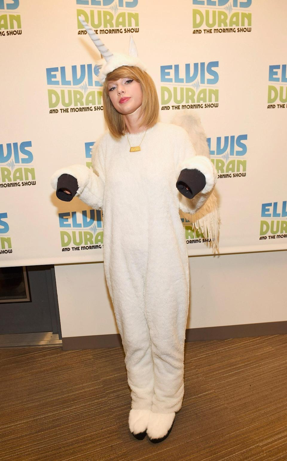 Leave it to <em>Folklore</em> singer Taylor Swift to find one of the coziest options for Halloween out there: a soft onesie that doubles as a unicorn costume.