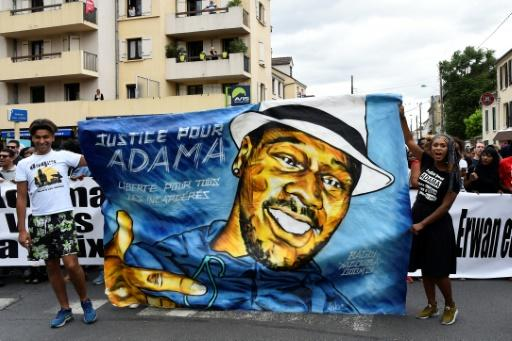 Assa Traore (right) has been fighting for justice for her younger brother Adama Traore since his death in police custody in 2016