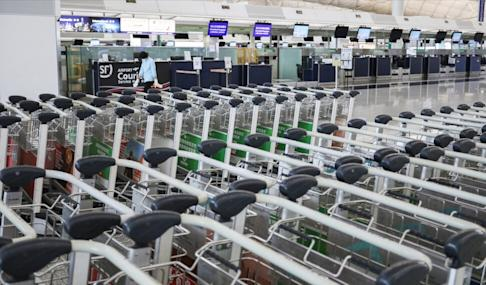 Hong Kong's airport has been deprived of its usual bustle for much of the year. Photo: Nora Tam