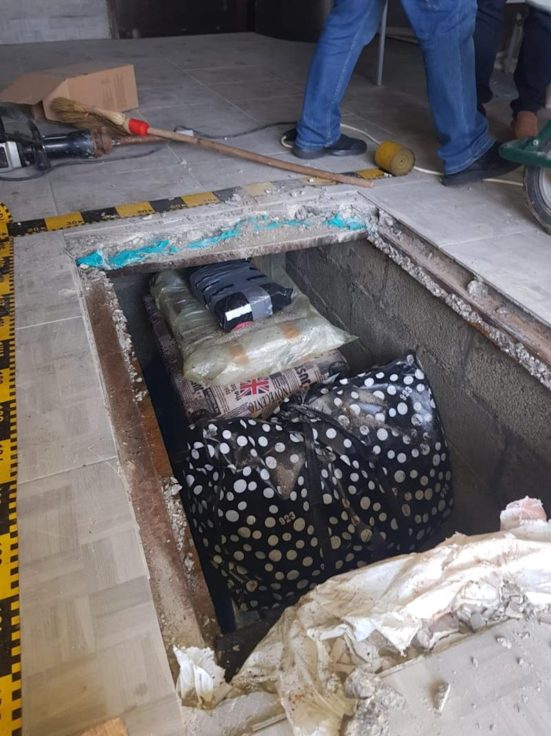The works were recovered from an underground compartment. (Met Police)