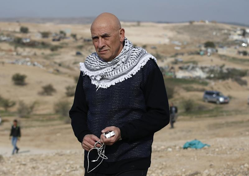 A file picture taken on January 18, 2017 shows Basel Ghattas in the unrecognised Bedouin village of Umm al-Hiran in the Negev desert