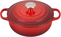 <p>Le Creuset doesn't go on sale often and when it does, you need to snag them fast. The <span>Le Creuset Enameled Cast Iron Signature Sauteuse Oven</span> ($180, originally $300) has a 3.5-quart capacity and is great for slow-cooking, braising, and roasting.</p>
