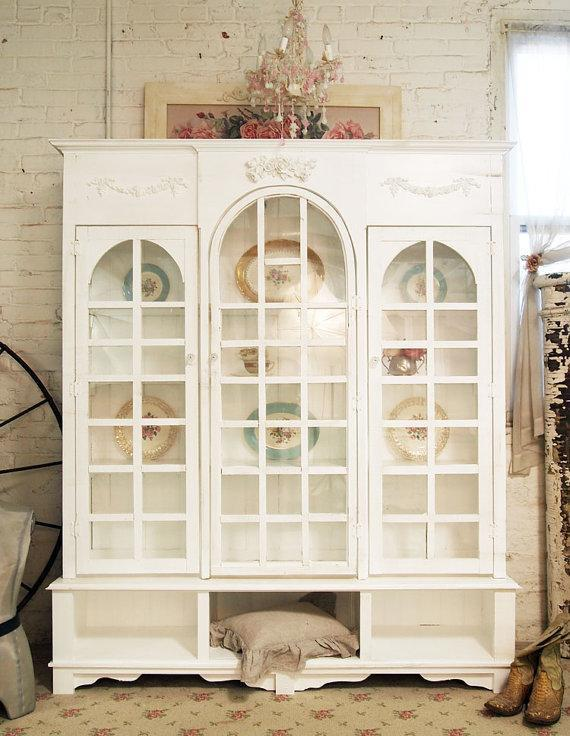 """<div class=""""caption-credit""""> Photo by: etsy.com</div><b>Out: China Cabinet.</b> As couples wed later in life, or not at all, China dinnerware displays are a casualty. The tradition of passing down plates is less likely to appeal to a couple who've been working with their own set of dinnerware for some time now. Besides, who has the room for a cabinet to showcase it in?"""