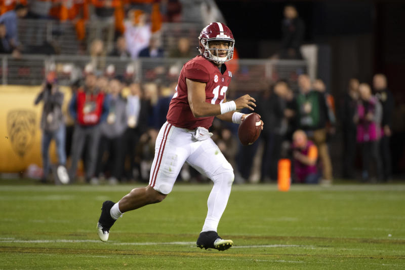 Tua Tagovailoa will be some NFL teams' QB1 entering the 2019 college football season. (Getty Images)