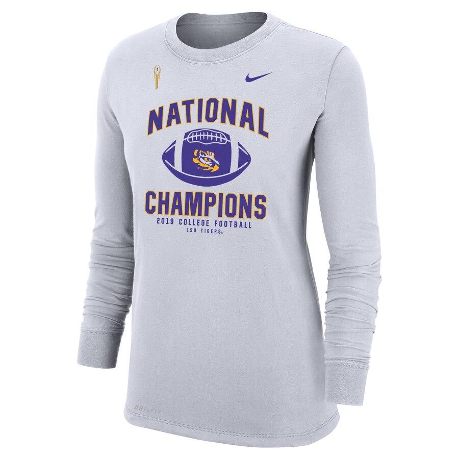Women's Nike LSU College Football Playoff 2019 National Champions Long Sleeve T-Shirt