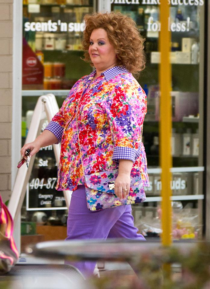 "Melissa McCarthy on the set of ""Identity Theft"" on June 9, 2012."