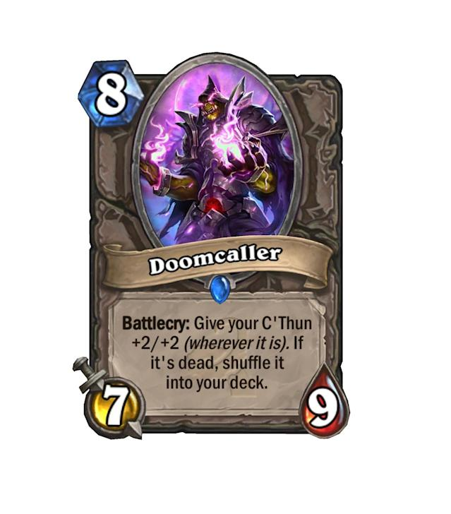 <p>Did your enemy take out the C'Thun that you cast last turn? Let them feel the pain of his Battlecry the very next turn, but with a nice little extra buff for your troubles.</p>