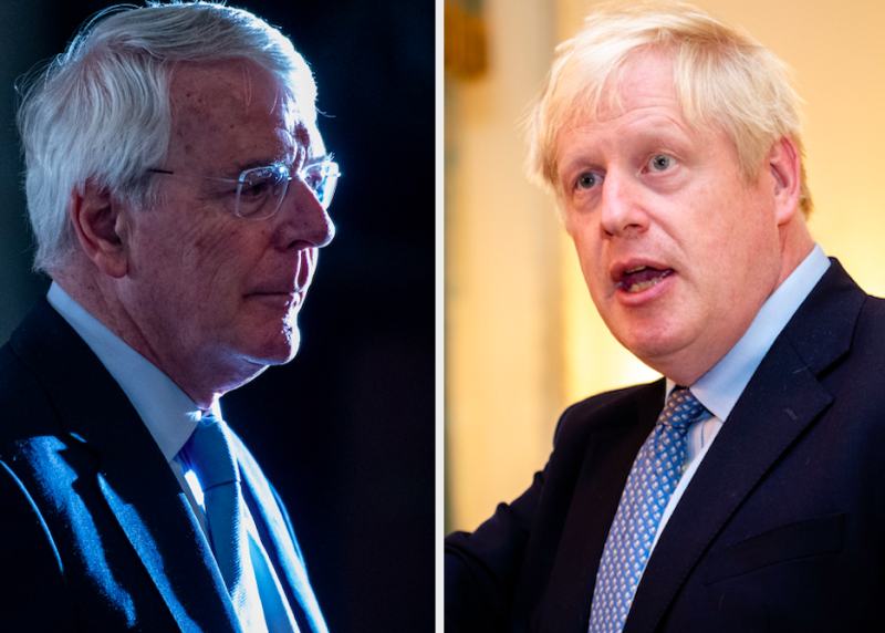 Sir John Major is set to criticise Boris Johnson in the Supreme Court (Getty)