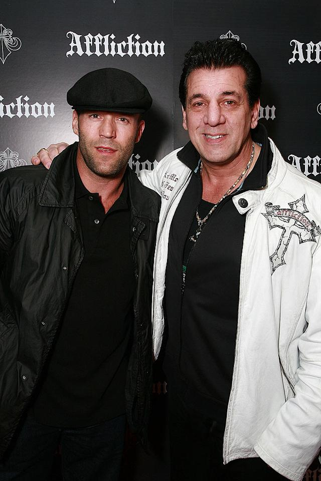 """""""Transporter"""" Jason Statham and bodyguard-to-the-stars Chuck Zito pose for a picture on the red carpet. Tiffany Rose/<a href=""""http://www.wireimage.com"""" target=""""new"""">WireImage.com</a> - January 24, 2009"""