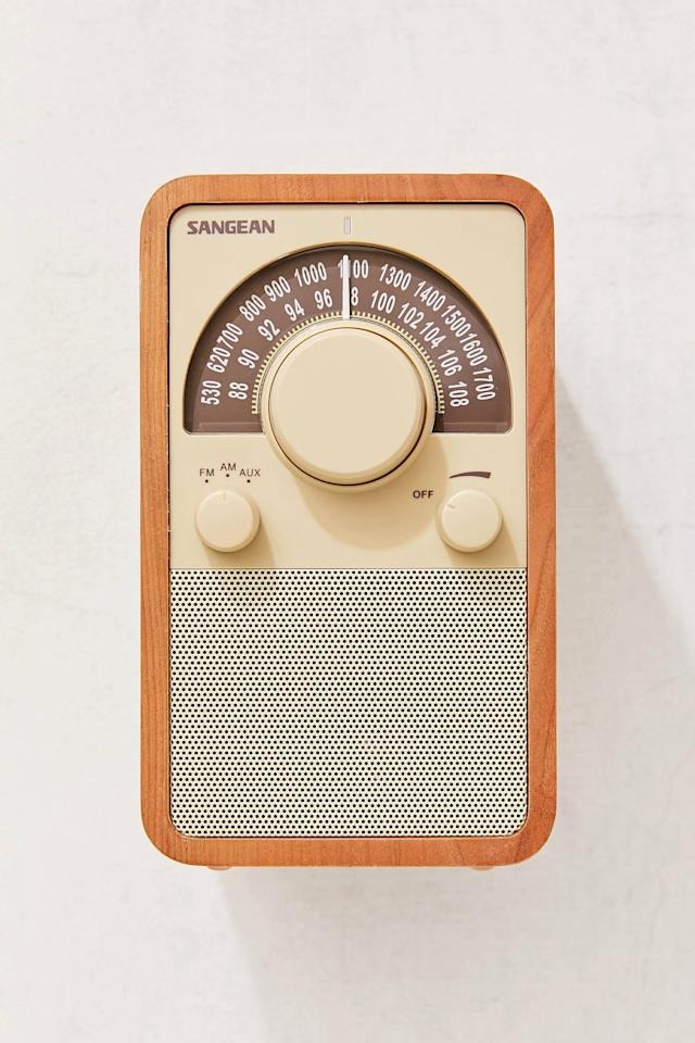 "<p>Get this <a href=""https://www.popsugar.com/buy/Sangean-Retro-Wooden-Radio-499424?p_name=Sangean%20Retro%20Wooden%20Radio&retailer=urbanoutfitters.com&pid=499424&price=146&evar1=savvy%3Aus&evar9=44331602&evar98=https%3A%2F%2Fwww.popsugar.com%2Fsmart-living%2Fphoto-gallery%2F44331602%2Fimage%2F46732872%2FSangean-Retro-Wooden-Radio&list1=shopping%2Cgifts%2Curban%20outfitters%2Choliday%2Cgift%20guide%2Cgifts%20for%20men&prop13=mobile&pdata=1"" rel=""nofollow"" data-shoppable-link=""1"" target=""_blank"" class=""ga-track"" data-ga-category=""Related"" data-ga-label=""https://www.urbanoutfitters.com/shop/sangean-retro-wooden-radio?color=022&amp;quantity=1&amp;recommendation=dyrectray-OftenViewedWIth&amp;size=ONE%20SIZE&amp;type=REGULAR"" data-ga-action=""In-Line Links"">Sangean Retro Wooden Radio</a> ($146) for the guy who loves music.</p>"