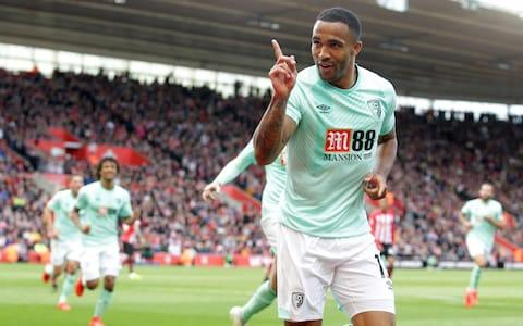 Callum Wilson of Bournemouth celebrates after he scores a goal to make it 2-1 during the Premier League match between Southampton FC and AFC Bournemouth - Credit: GETTY IMAGES