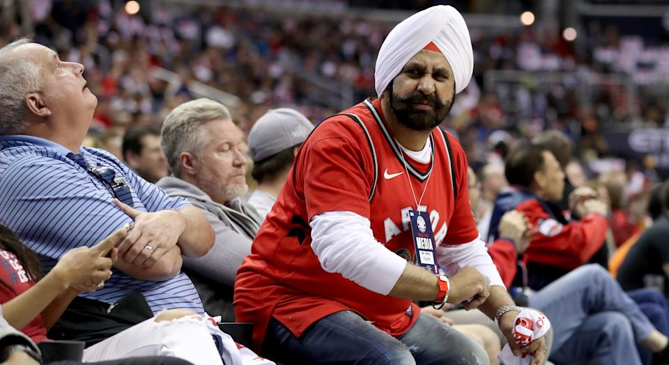 'Superfan' Nav Bhatia has helped make the Toronto Raptors fanbase what it is today. (Photo by Rob Carr/Getty Images)