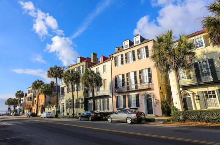 """<p><strong>Established in:</strong> 1670</p><p>English colonists happened upon <a href=""""https://www.britannica.com/place/Charleston-South-Carolina"""" rel=""""nofollow noopener"""" target=""""_blank"""" data-ylk=""""slk:Charleston"""" class=""""link rapid-noclick-resp"""">Charleston</a> in 1670. It was originally named Charles Towne for Charles II, and began the colonization of South Carolina. It eventually became the center of trade in rice and indigo due to its location on the water. </p>"""
