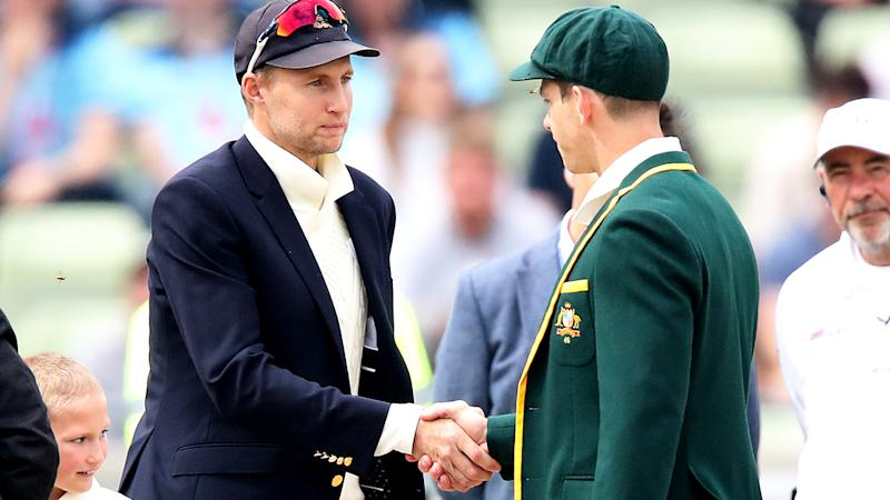 Joe Root and Tim Paine, pictured here shaking hands at the 2019 Ashes.
