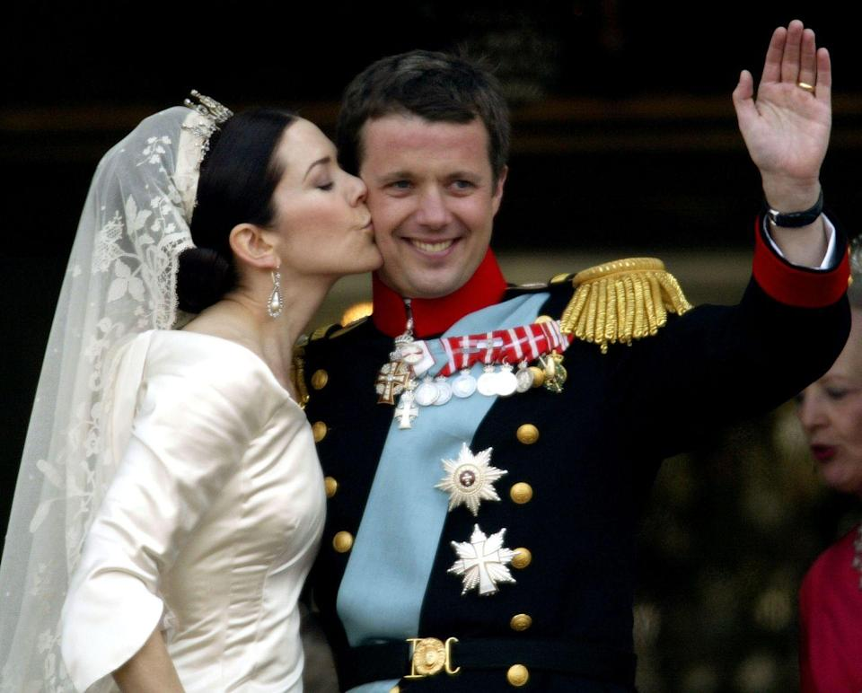 <p>These two met at a pub in Sydney, when the Crown Prince was in town for the 2000 Olympics. The two were married in May of 2004 and now have four children together, Princes Christian and Vincent, and Princesses Isabella and Josephine. </p>