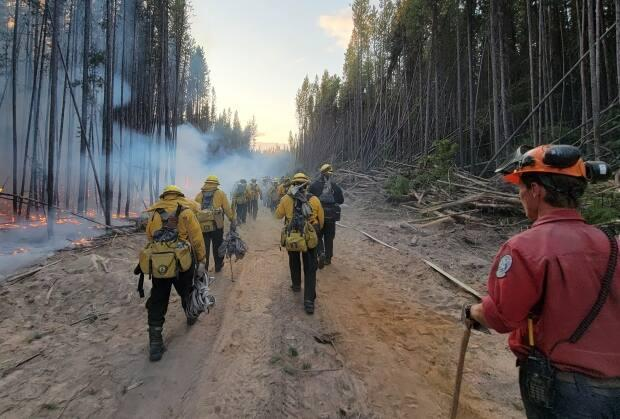 Wildfire officials say Mexican crews are heading home and deserve some much needed rest. The number of overall people on the ground continues to trickle down. (B.C. Wildfire Service - image credit)