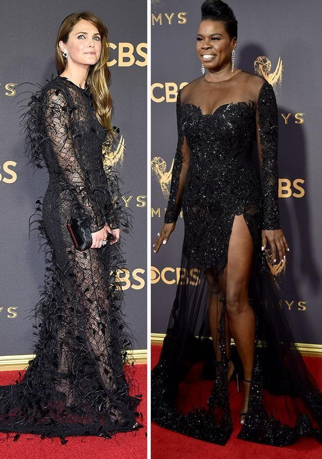 But of course, black was the colour of the evening as Keri Russell and Leslie Jones proved. Photo: Getty
