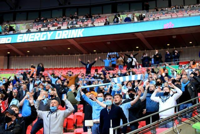 Fans return to the Wembley stands for the Carabao Cup final