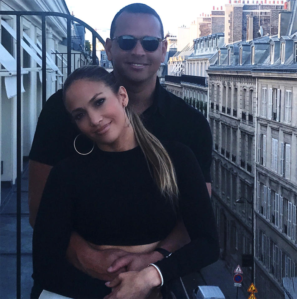 """<p>After going public with their romance, J.Lo and A-Rod celebrated by going on #Baecation. The couple first came to be after Lopez went up and introduced herself to the former baseball star. """"I was having a Cobb salad and some soup,"""" Lopez <a rel=""""nofollow"""" href=""""https://ec.yimg.com/ec?url=http%3a%2f%2few.com%2ftv%2f2017%2f04%2f24%2fellen-jennifer-lopez-a-rod-met%2f%26quot%3b%26gt%3brecalled%26lt%3b%2fa%26gt%3b&t=1529715450&sig=266PwKBpKN4RVlt0.o_jug--~D to Ellen DeGeneres. """"I saw him walk by, and then afterward I went outside. But for some reason, I felt like tapping him on the shoulder and saying hi. I said, 'Hi, Alex' and he said, 'Hi, Jennifer.' That's how we met."""" (Photo: <a rel=""""nofollow"""" href=""""https://www.instagram.com/p/BViOF8ZlVjE/"""">Jennifer Lopez via Instagram</a>) </p>"""