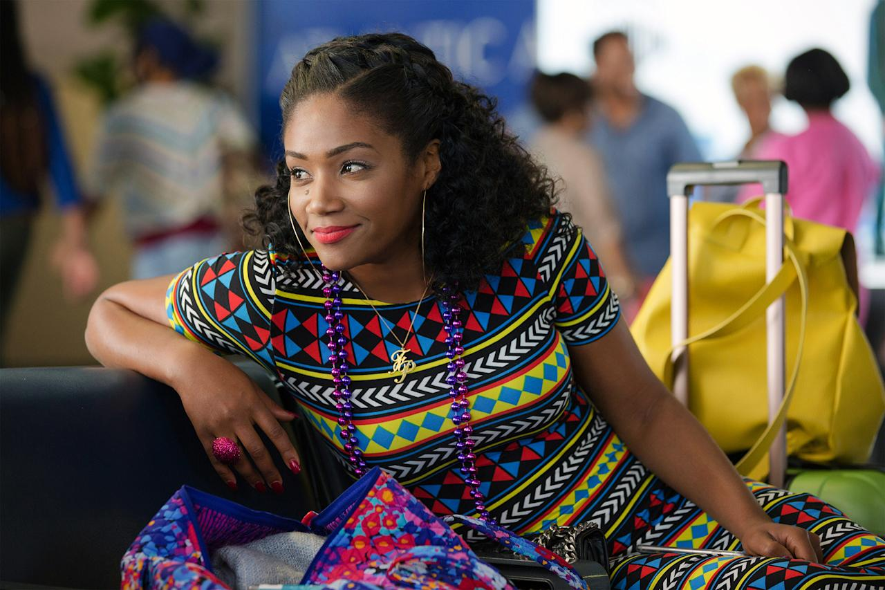 """<p>2017 was definitely Haddish's year. She won the summer in her breakout role as Dina in <i>Girls Trip</i>,<i> </i>which was nearly overshadowed by her hilarious press tour. (<a rel=""""nofollow"""" href=""""https://www.yahoo.com/entertainment/girls-trip-breakout-tiffany-haddish-shares-grapefruit-tricks-creative-ex-revenge-ideas-r-rated-qa-214955933.html"""">This interview</a> she did with us is a perfect example.) Then she made history by being <a rel=""""nofollow"""" href=""""https://www.yahoo.com/entertainment/saturday-night-live-recap-tiffany-haddish-breaks-113911435.html"""">the first black female standup comedian</a> to host <i>Saturday Night Live</i>, during which she debuted the immediately iconic character Boo Boo Jeffries. As if that wasn't enough, she just released her new book, <i>The Last Black Unicorn</i>. We can't wait to see how she tops it all in 2018. (Photo: Universal Pictures/Courtesy Everett Collection) </p>"""