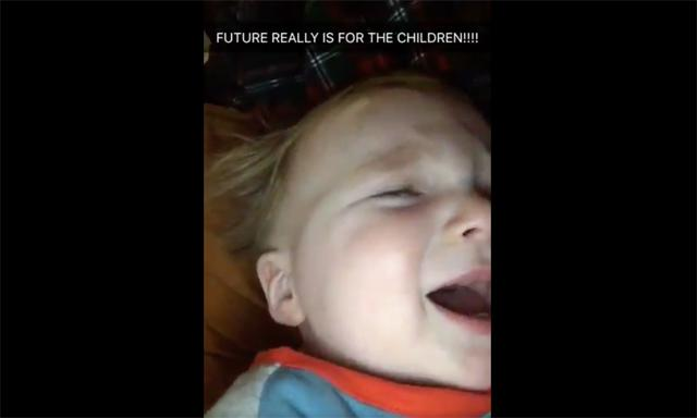 """Realest Baby Alive Is Soothed By Future's """"Mask Off"""""""