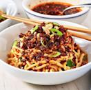"""<p>Can't find Chinese black vinegar in your local grocery store? No problem! Instead, use a mixture of 3 tbsp. water, 1 tbsp. balsamic vinegar, and 1 tbsp. rice wine vinegar. Whisk those three ingredients together, then measure out the amount called for in the recipe below.</p><p>Get the <a href=""""https://www.delish.com/uk/cooking/recipes/a35403557/dan-dan-noodles-recipe/"""" rel=""""nofollow noopener"""" target=""""_blank"""" data-ylk=""""slk:Dan Dan Noodles"""" class=""""link rapid-noclick-resp"""">Dan Dan Noodles</a> recipe.</p>"""