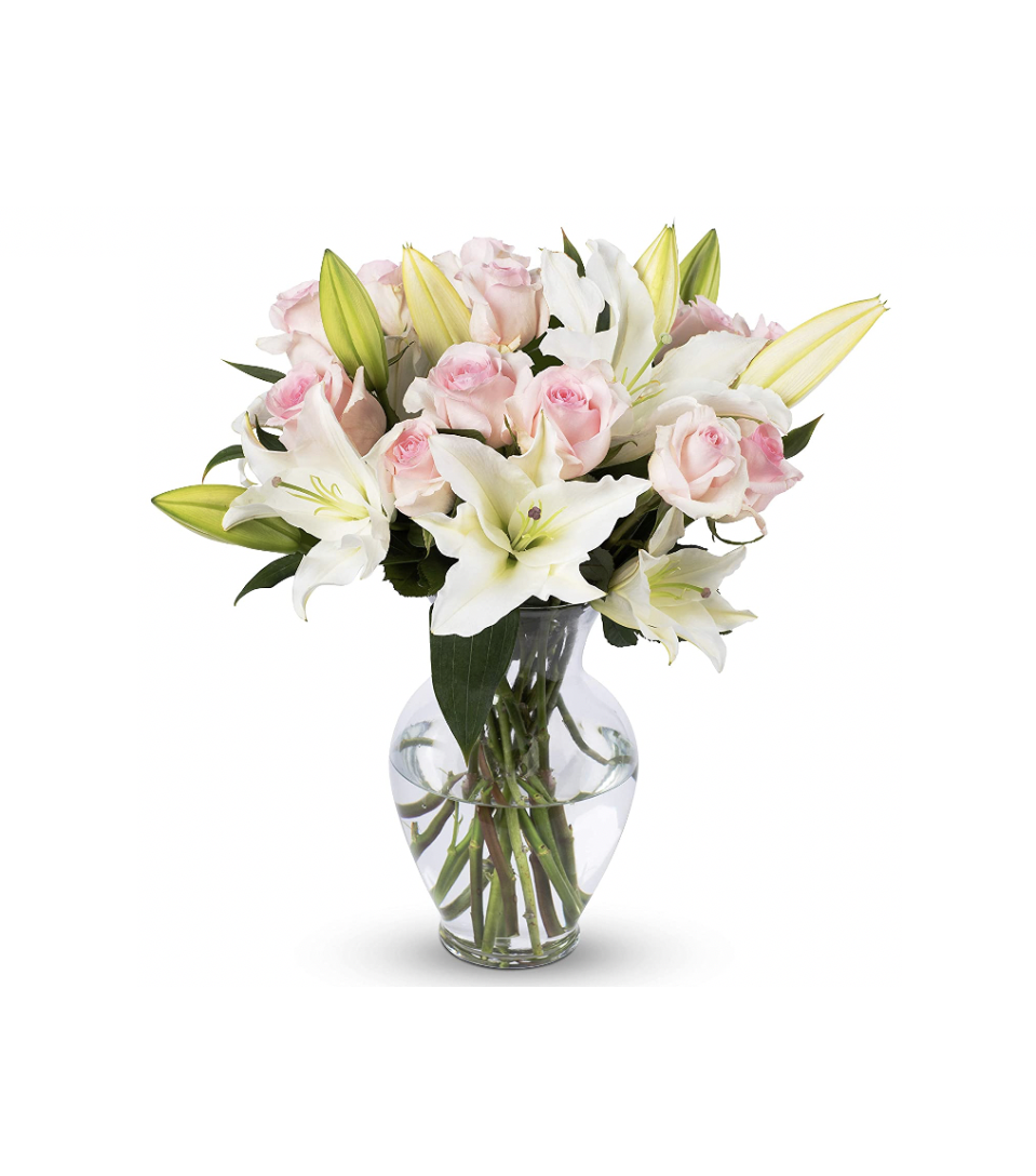 "<p>Amazon </p><p><a href=""https://www.amazon.com/Flowers-Delivery/s?k=Flowers+Delivery&tag=syn-yahoo-20&ascsubtag=%5Bartid%7C10057.g.34967287%5Bsrc%7Cyahoo-us"" rel=""nofollow noopener"" target=""_blank"" data-ylk=""slk:SHOP NOW"" class=""link rapid-noclick-resp"">SHOP NOW</a></p><p>If you're looking for affordable options, Amazon offers a wide selection of flowers at budget-friendly options. You can choose from a variety of arrangements (vases included!) starting at just $35. Check out <a href=""https://www.amazon.com/stores/Benchmark+Bouquets/page/779714BB-70F6-46DB-9542-84949C1DDD89?tag=syn-yahoo-20&ascsubtag=%5Bartid%7C10057.g.34967287%5Bsrc%7Cyahoo-us"" rel=""nofollow noopener"" target=""_blank"" data-ylk=""slk:Benchmark Bouquets"" class=""link rapid-noclick-resp"">Benchmark Bouquets</a> for customer-favorite blooms like the one pictured. </p>"
