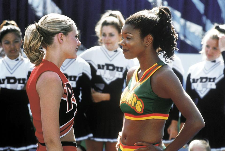"""Kirsten Dunst, left, and Gabrielle Union, in a scene from the motion picture """"Bring It On."""""""