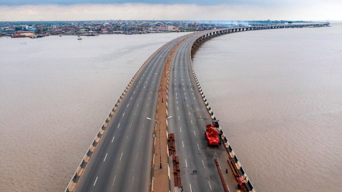 Third Mainland Bridge free of traffic, Lagos, Nigeria