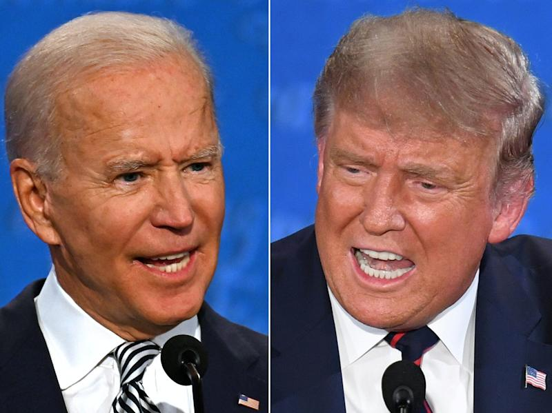 Trump's campaign has spent up to $40,000 on Facebook ads promoting baseless rumors that Biden wears an earpiece
