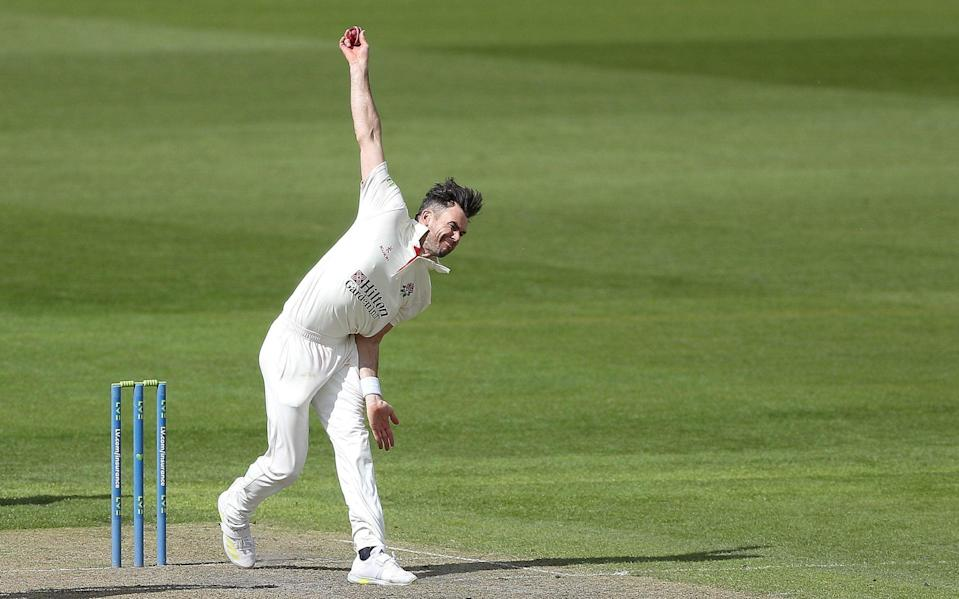 Timeless James Anderson showing he can still bowl for England at this year's Ashes - Martin Rickett/PA
