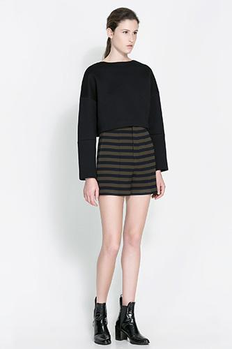 """<div class=""""caption-credit""""> Photo by: Zara</div><div class=""""caption-title""""></div><b>Zara</b> Striped High Waisted Shorts, $59.90, available at <a rel=""""nofollow"""" href=""""http://www.refinery29.com/high-waisted-shorts"""" target=""""_blank"""">Zara</a>."""