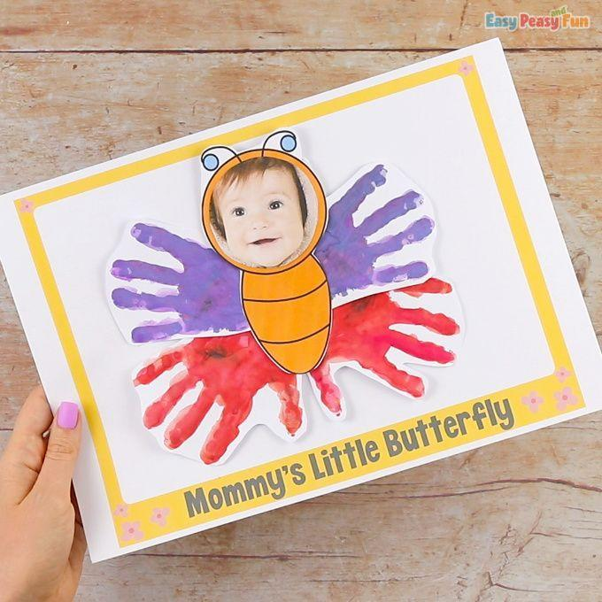 """<p>Here's another way to create a DIY butterfly Mother's Day card. Only, with this option, you can include your little one's face, too!</p><p><strong>Get the tutorial at <a href=""""https://www.easypeasyandfun.com/handprint-butterfly-mothers-day-craft/"""" rel=""""nofollow noopener"""" target=""""_blank"""" data-ylk=""""slk:Easy Peasy and Fun"""" class=""""link rapid-noclick-resp"""">Easy Peasy and Fun</a>. </strong></p><p><a class=""""link rapid-noclick-resp"""" href=""""https://www.amazon.com/KEFF-Creations-Washable-nontoxic-Supplies/dp/B08HZHH43B?tag=syn-yahoo-20&ascsubtag=%5Bartid%7C2164.g.35668391%5Bsrc%7Cyahoo-us"""" rel=""""nofollow noopener"""" target=""""_blank"""" data-ylk=""""slk:SHOP CRAFT PAINT"""">SHOP CRAFT PAINT</a></p>"""
