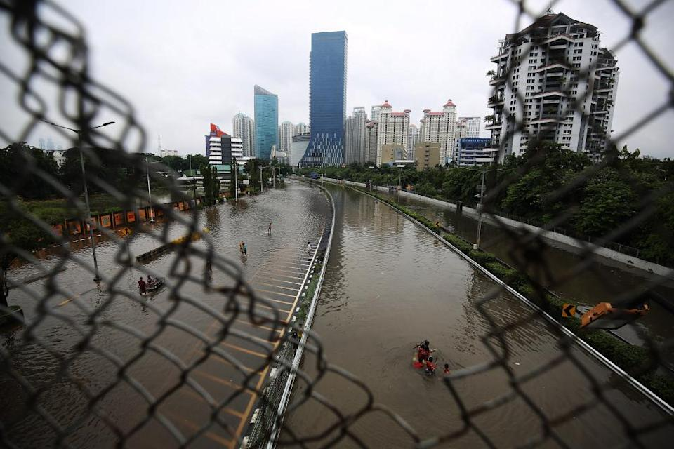 Flooding in Jakarta, Indonesia, in January.