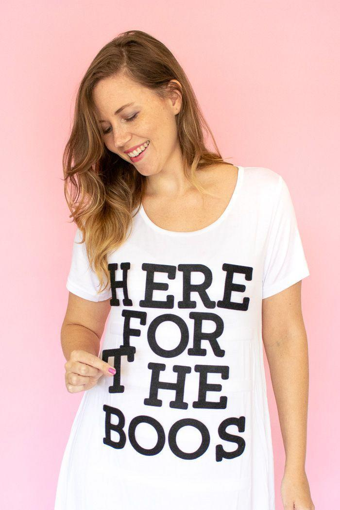 """<p>For a modern take on the classic t-shirt costume, use pre-cut letters and Velcro for a letter board effect. That way you'll be able to refresh your costume throughout the day. </p><p><a class=""""link rapid-noclick-resp"""" href=""""https://www.amazon.com/XFasten-Adhesive-10-Foot-Industrial-Resistant/dp/B01N2VGDG1/?tag=syn-yahoo-20&ascsubtag=%5Bartid%7C10055.g.2750%5Bsrc%7Cyahoo-us"""" rel=""""nofollow noopener"""" target=""""_blank"""" data-ylk=""""slk:SHOP VELCRO"""">SHOP VELCRO</a></p><p><a class=""""link rapid-noclick-resp"""" href=""""https://www.amazon.com/Outus-Adhesive-Alphabet-Stickers-Ornament/dp/B01N0ND3F3/?tag=syn-yahoo-20&ascsubtag=%5Bartid%7C10055.g.2750%5Bsrc%7Cyahoo-us"""" rel=""""nofollow noopener"""" target=""""_blank"""" data-ylk=""""slk:SHOP PRE-CUT LETTERS"""">SHOP PRE-CUT LETTERS</a></p><p><em><a href=""""https://www.clubcrafted.com/2018/10/11/diy-interchangeable-easy-letterboard-costume-for-halloween/"""" rel=""""nofollow noopener"""" target=""""_blank"""" data-ylk=""""slk:Get the tutorial at Club Crafted »"""" class=""""link rapid-noclick-resp"""">Get the tutorial at Club Crafted »</a></em></p>"""