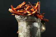 "<p>Make your chips sweet <i>and</i> spicy and say goodbye to those Maccy D's cravings for good. And, c'mon, these oven-baked versions are virtually a health food.</p><p>Get the recipe from <a href=""http://minimalistbaker.com/cajun-baked-sweet-potato-fries/"" rel=""nofollow noopener"" target=""_blank"" data-ylk=""slk:Minimalist Baker"" class=""link rapid-noclick-resp"">Minimalist Baker</a>.</p><p><br></p>"
