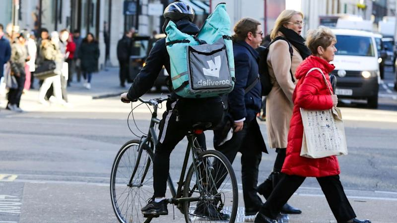 A deliveroo worker (stock image)