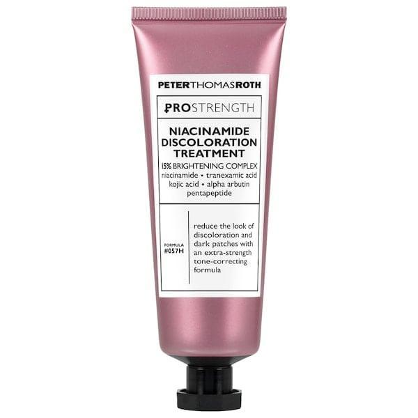 <p>With its potent 15-percent active complex that includes niacinamide along with other brighteners like tranexamic and kojic acids to take on dark spots, acne scars, and sun damage, it's no surprise this <span>Peter Thomas Roth Pro Strength Niacinamide Discoloration Treatment</span> ($88) has earned an average 4.5-star rating from other shoppers, too.</p>