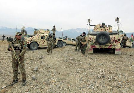 Afghan National Army (ANA) prepare for an operation against insurgents in Khogyani district of Nangarhar province