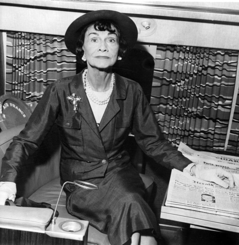 "This undated photo shows French fashion designer Gabrielle ""Coco"" Chanel, a fashion icon whose name has become shorthand for timeless French chic, at an undisclosed location.  A new book published in the U.S on Tuesday, Aug. 16, 2011, by Knopf, suggests Chanel not only had a wartime affair with a German aristocrat and spy, but that she herself was also an agent of Germany's Abwehr military intelligence organization and a rabid anti-Semite. (AP Photo)"