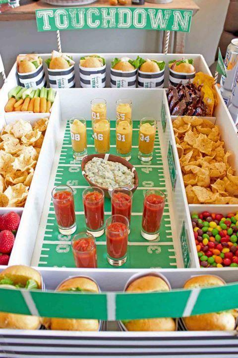 "<p>This is a totally unique, fun way to serve up your snacks.<br></p><p><em><a href=""https://www.womansday.com/home/crafts-projects/g2832/diy-super-bowl-party-decorations/"" rel=""nofollow noopener"" target=""_blank"" data-ylk=""slk:Get the tutorial at Woman's Day »"" class=""link rapid-noclick-resp"">Get the tutorial at Woman's Day »</a></em> </p>"