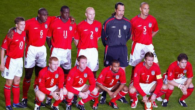 <p>There was no doubting that Group F was the group of death that year after the teams were drawn, and everyone got proven right when play kicked off in Korea and Japan.</p> <br><p>It was so tough that no country got more than one win under their belt in the group stage. England and Sweden, tied on points, made it out, while Argentina surprisingly bowed out and Nigeria finished last.</p>