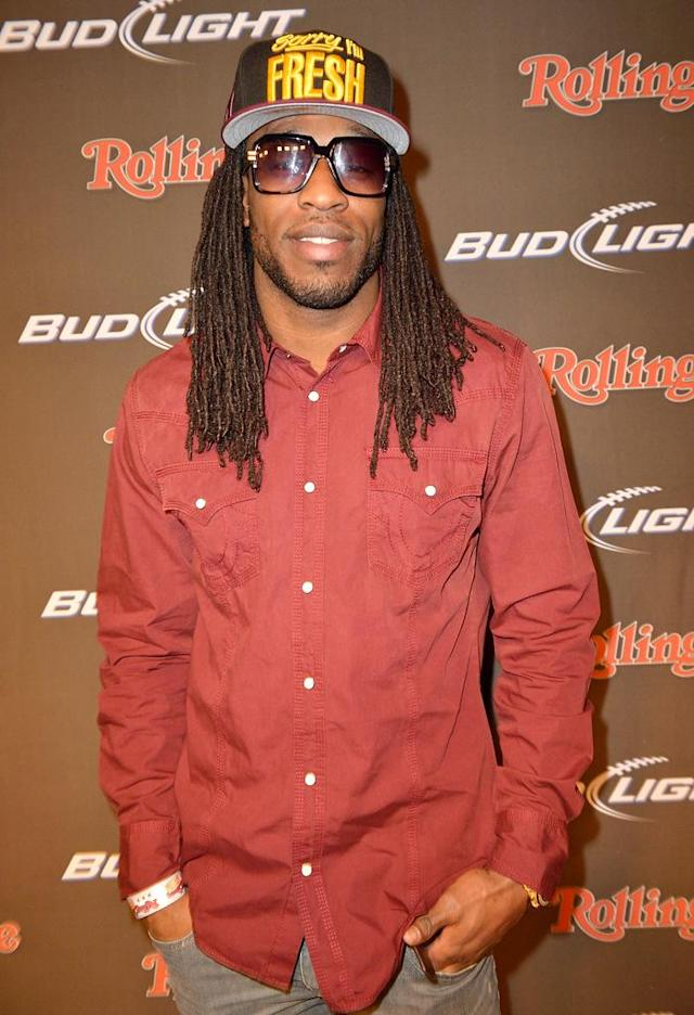 NEW ORLEANS, LA - FEBRUARY 01: NFL player LaQuan Williams of the Baltimore Raven arrives at the Rolling Stone LIVE party held at the Bud Light Hotel on February 1, 2013 in New Orleans, Louisiana. (Photo by Gustavo Caballero/Getty Images for Rolling Stone)