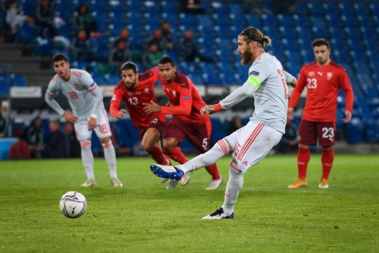 Spain's Sergio Ramos missed two penalties in the second half of their 1-1 draw with Switzerland on Saturday.