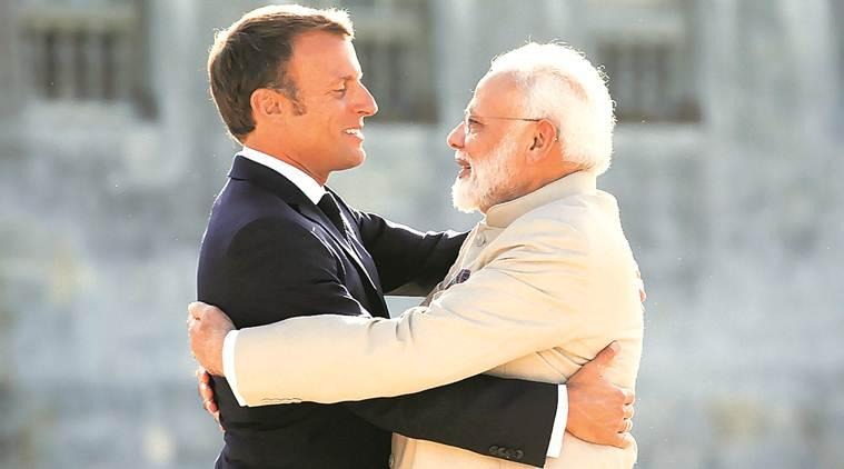 narendra modi, pm modi, pm modi france visit, france, emmanuel macron, india, france, india france relations, terror, rafale deal, rafale aircraft, nuclear power, cyber security, afghanistan, india france trade, indian express news