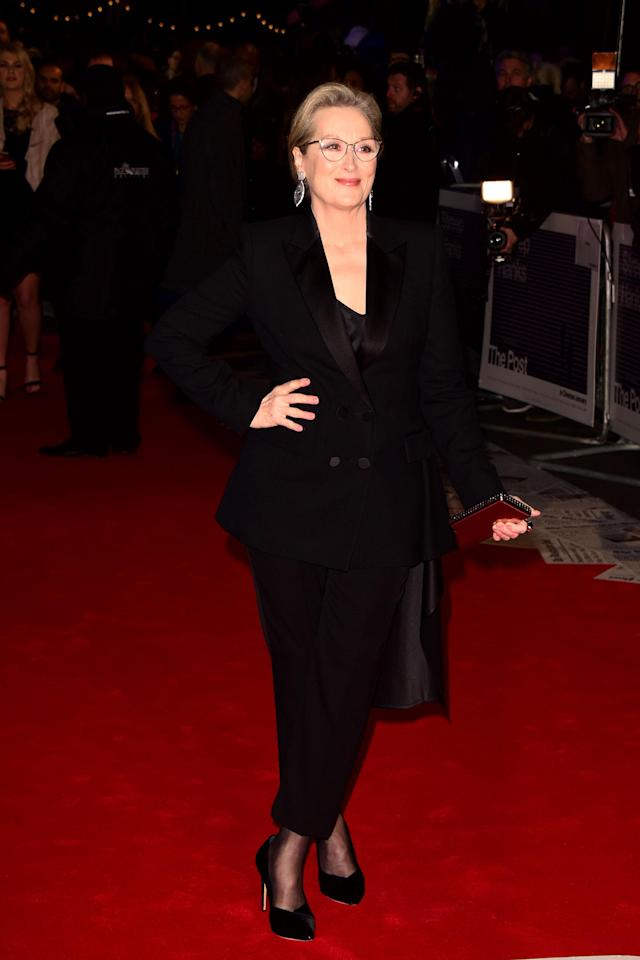 Meryl Streep is dedicated to the Hollywood black dress code. (Photo: Getty Images)